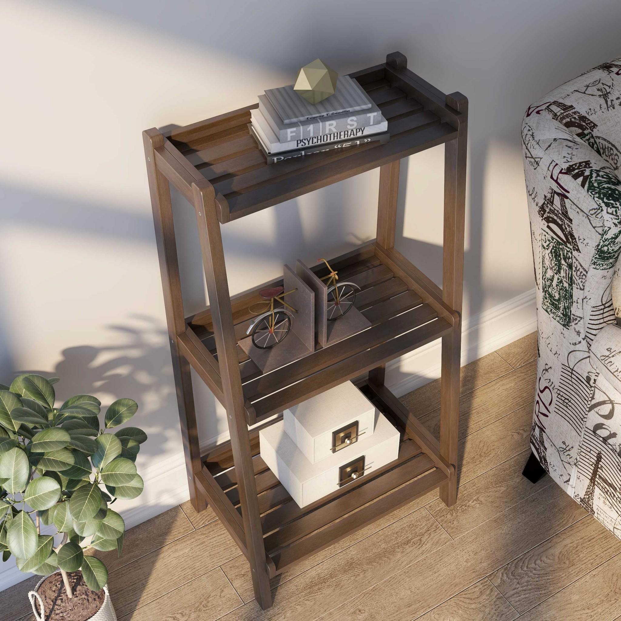 "42"" Bookcase with 3 Shelves in Espresso"