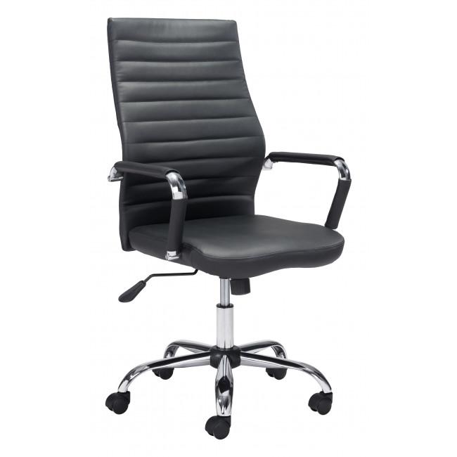 Black Faux Leather Ergonomic Classic Office Chair