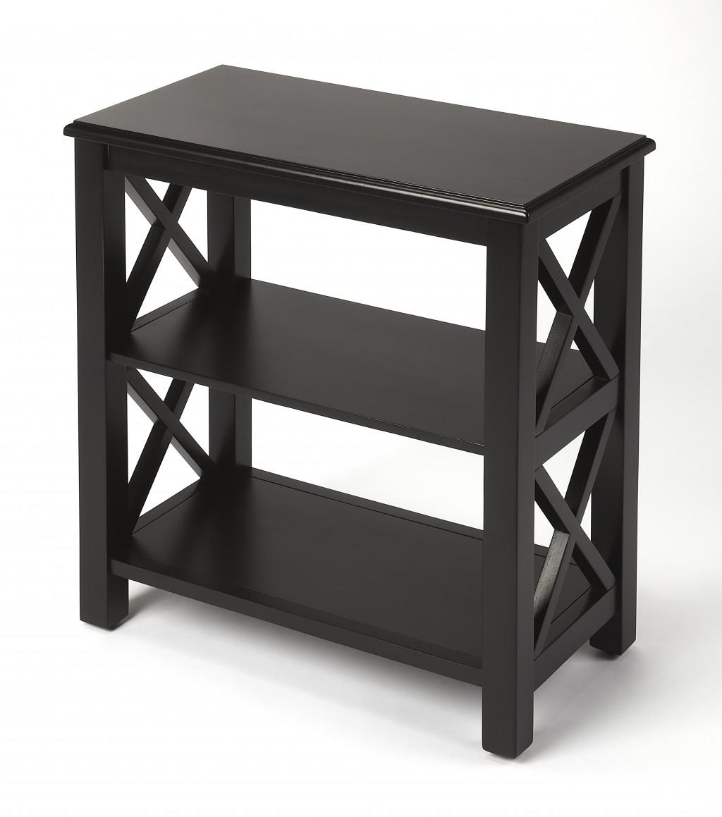 Vance Black Licorice Bookcase