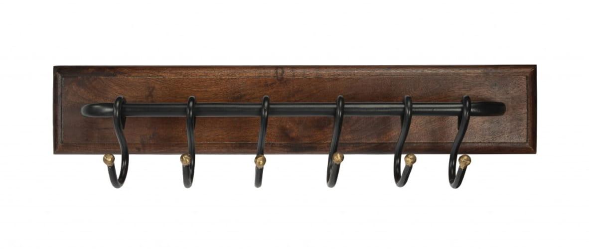 Glendo Iron & Wood Wall Rack