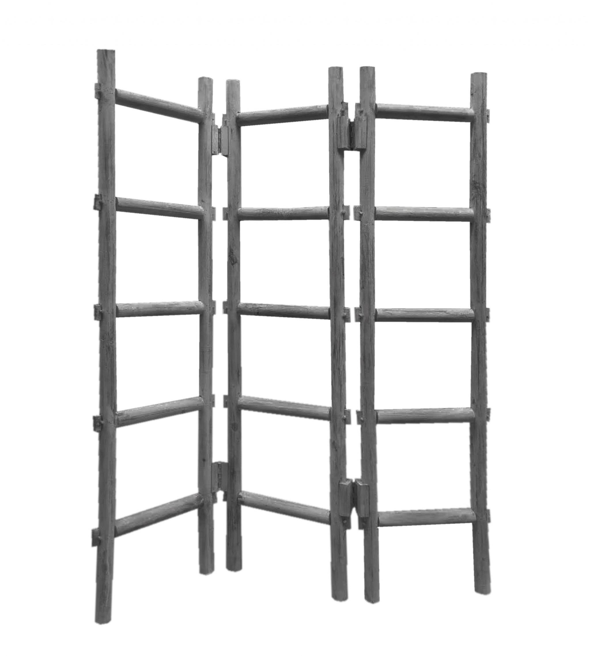 "54"" x 1.5"" x 59"" Gray Wood Blanket Rack  Screen"