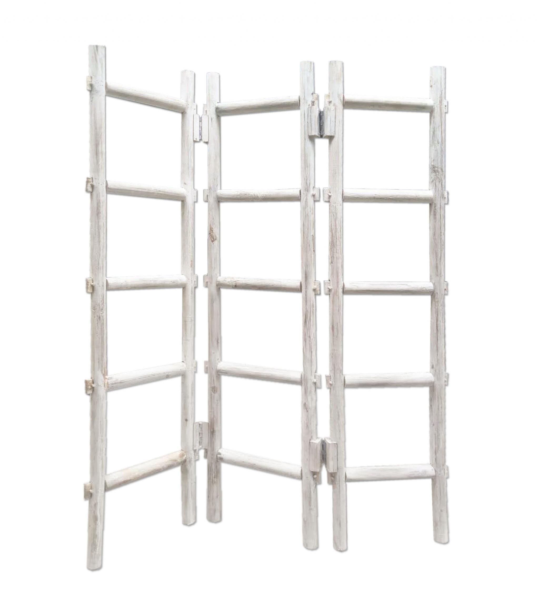 """54"""" x 1.5"""" x 59"""" White Wood Blanket Rack  Screen"""