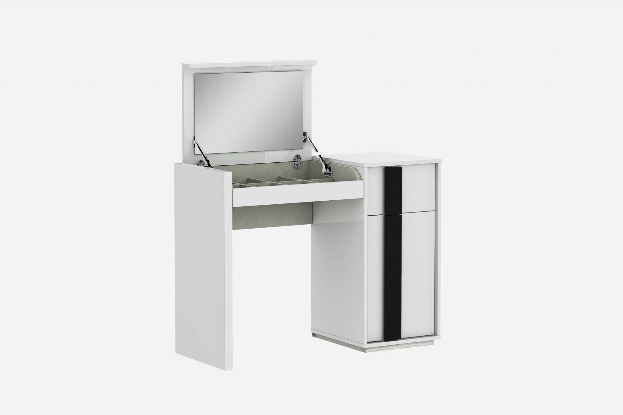 "39"" X 17"" X 30"" White iron Vanity Dresser"