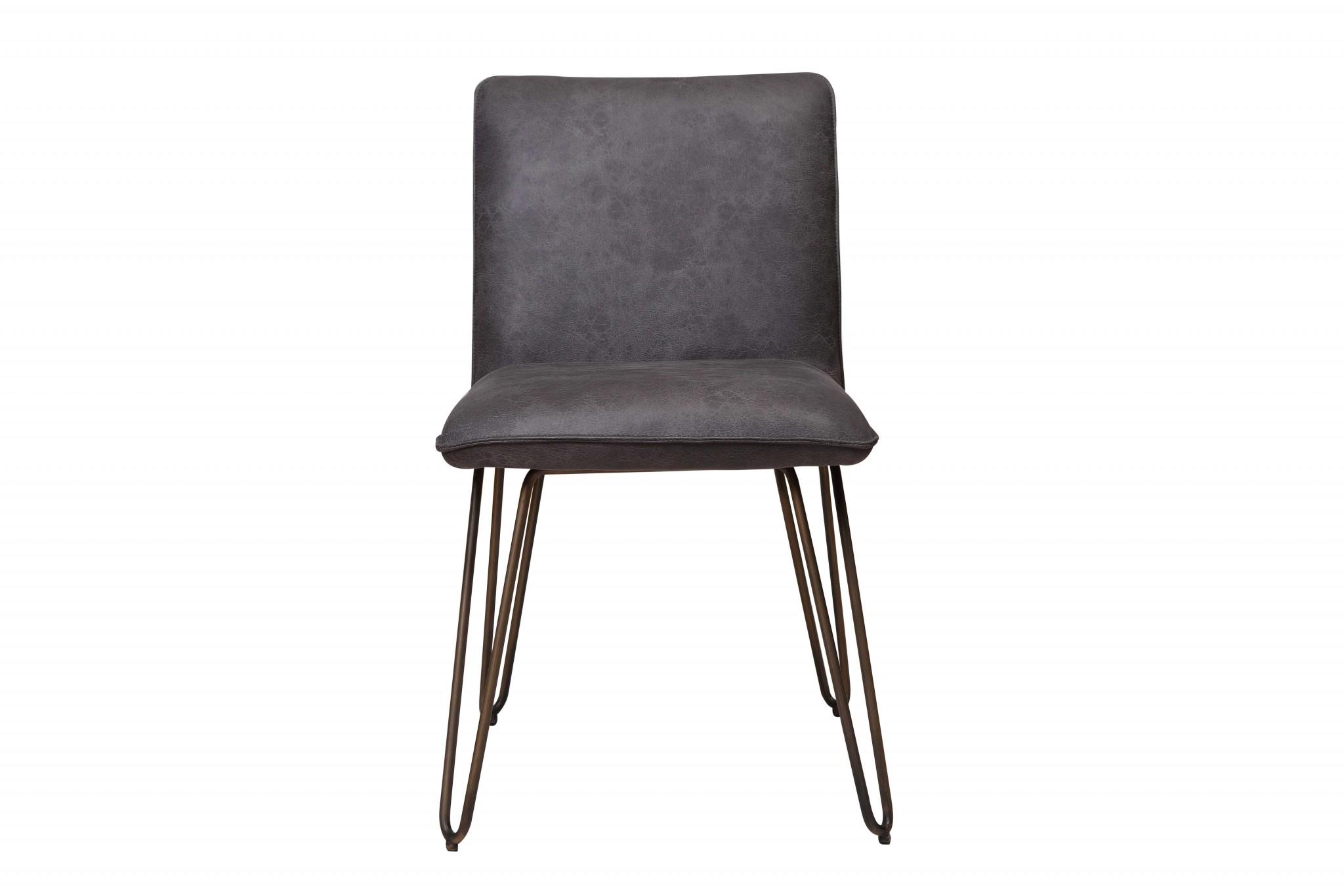 """24"""" X 20"""" X 33"""" Grey Foam Metal Fabric Plywood Chair"""