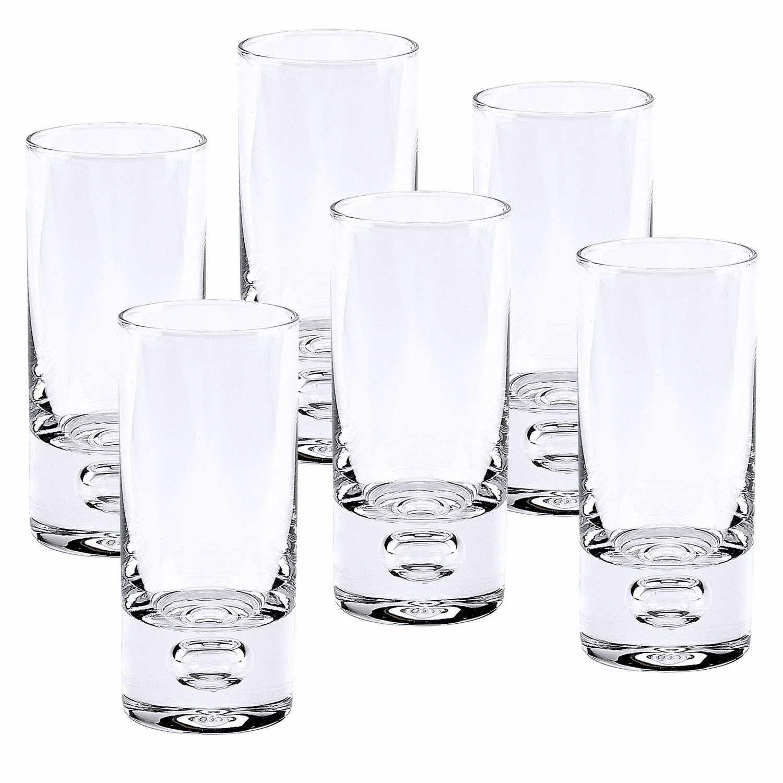 Mouth Blown Crystal 6 Pc Shot or Vodka Glass Set  3 oz.