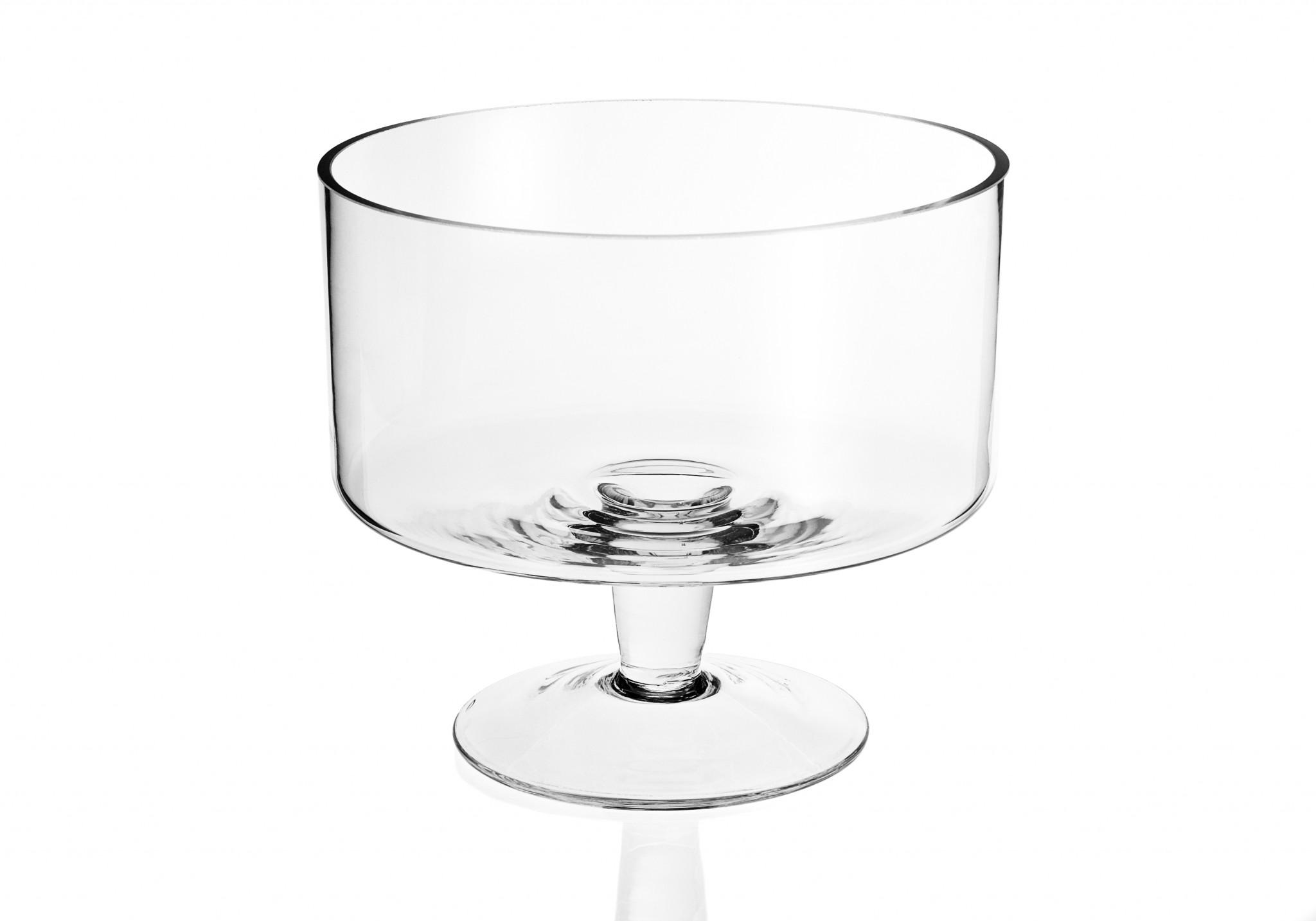 """9"""" Mouth Blown Trifle Glass Bowl"""
