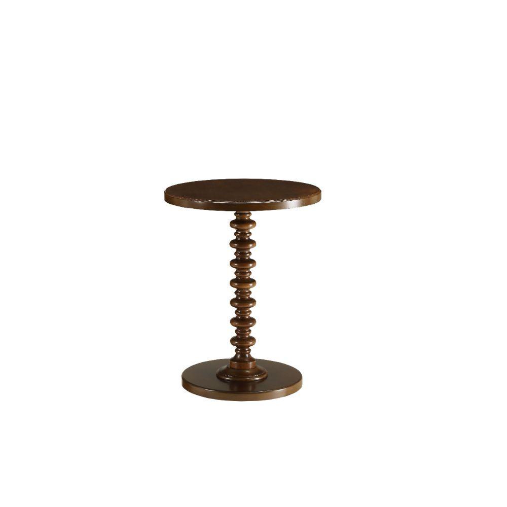 """17"""" X 17"""" X 22"""" Walnut Wood Finish Side Table"""