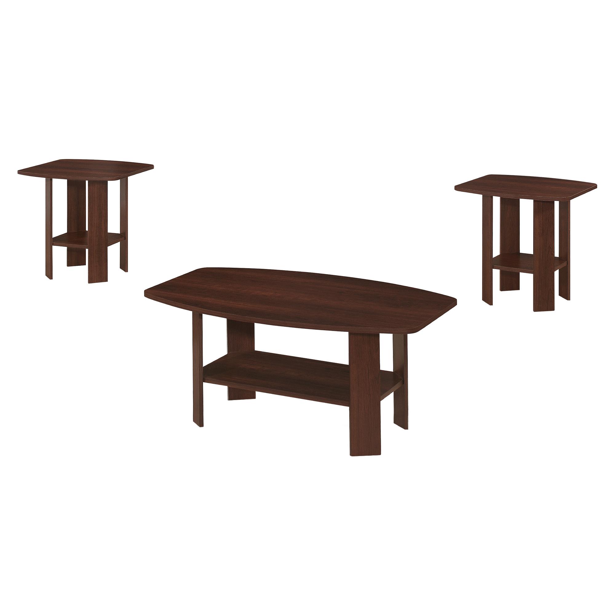 """61.5"""" x 75.5"""" x 55.25"""" Cherry  Table 3pcs Set"""
