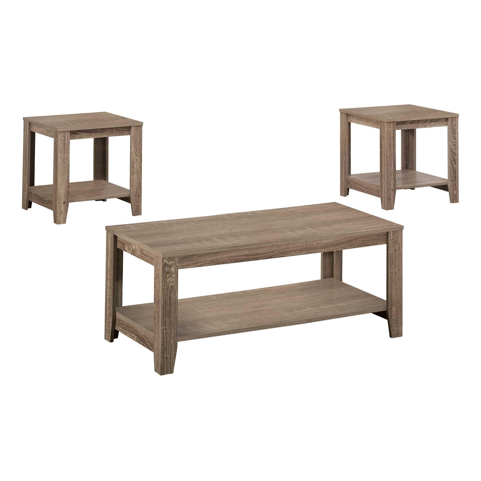 Dark Taupe Table Set  3Pcs Set