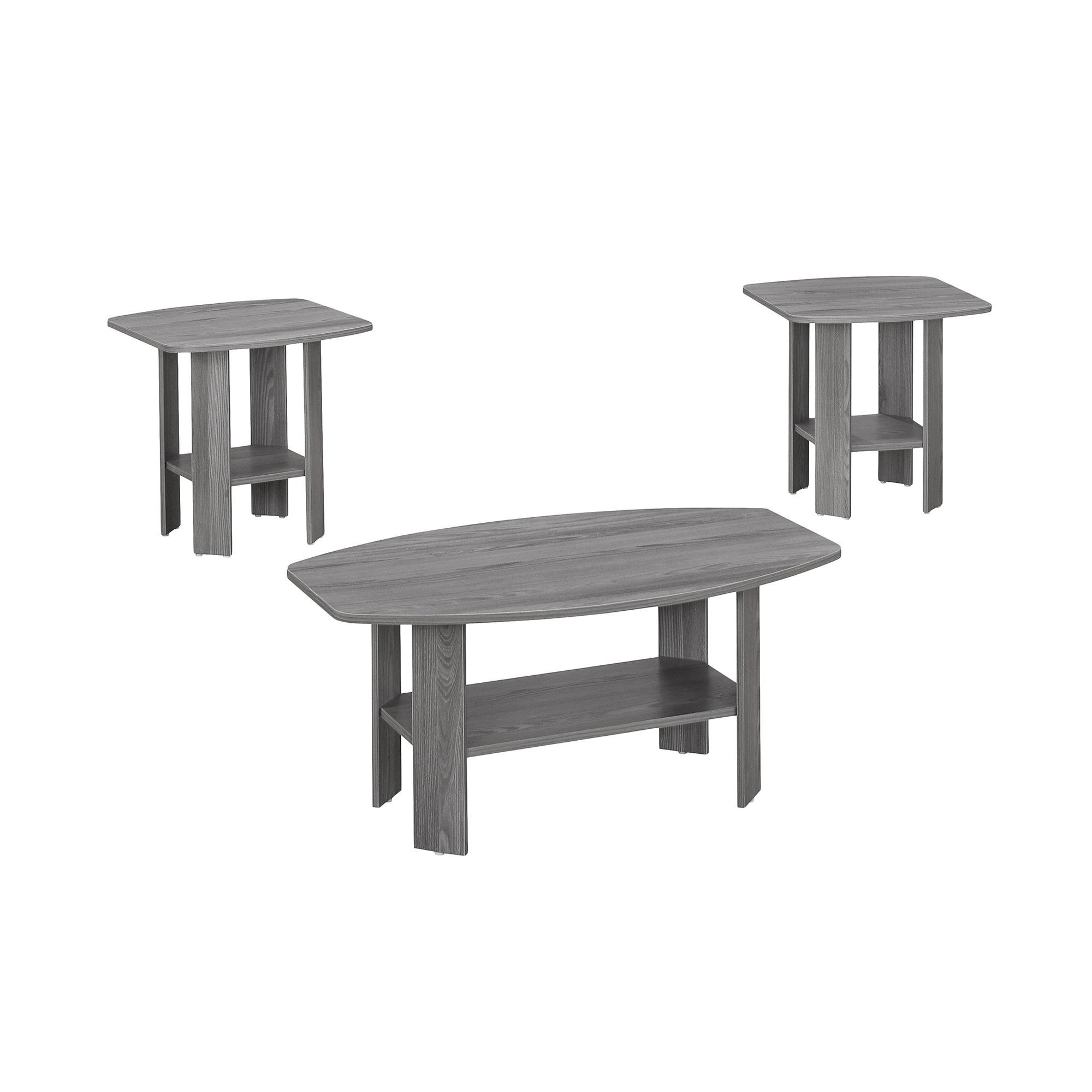 Grey Table Set - 3Pcs Set