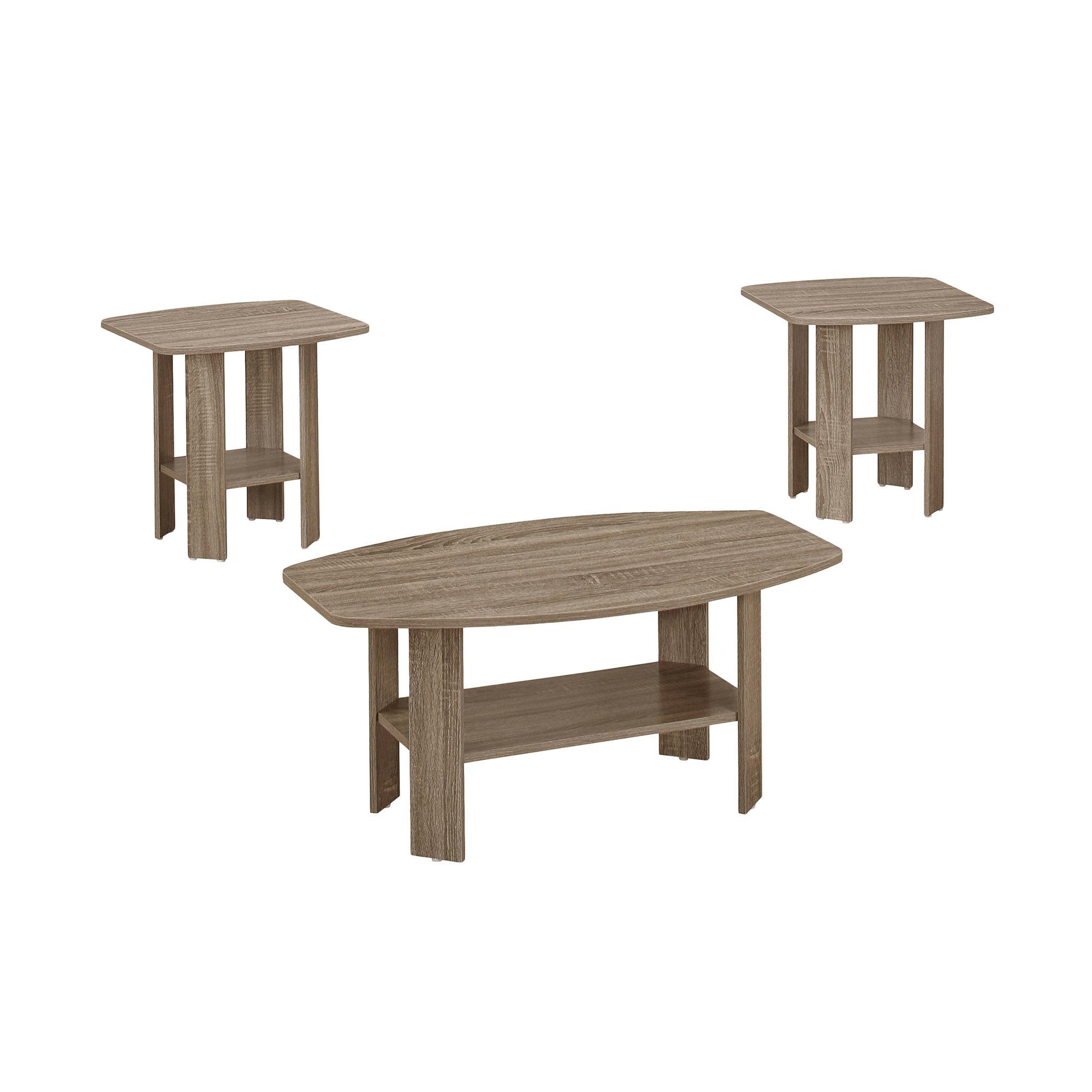 Dark Taupe Table Set - 3Pcs Set