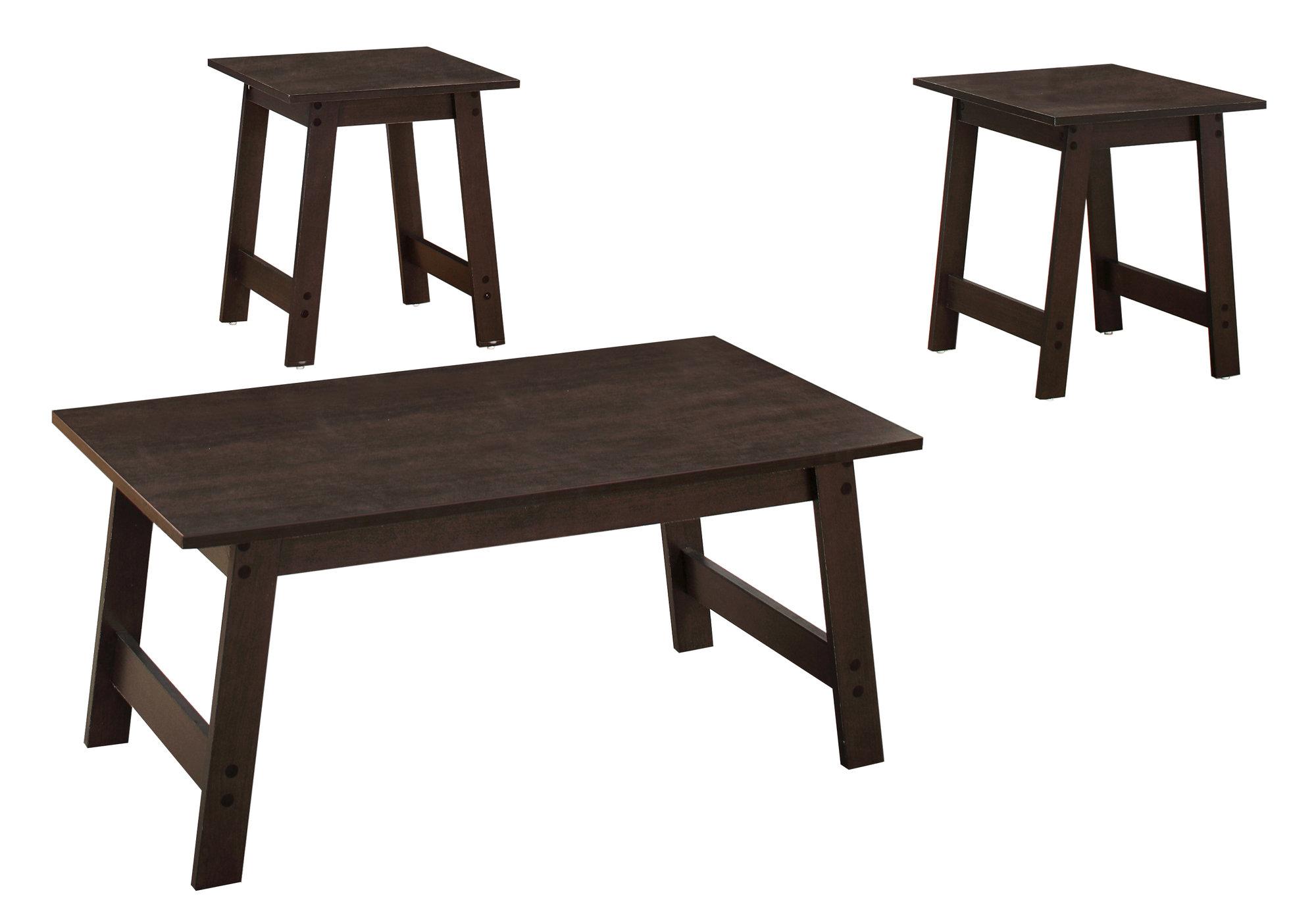 Cappuccino Table Set - 3Pcs Set