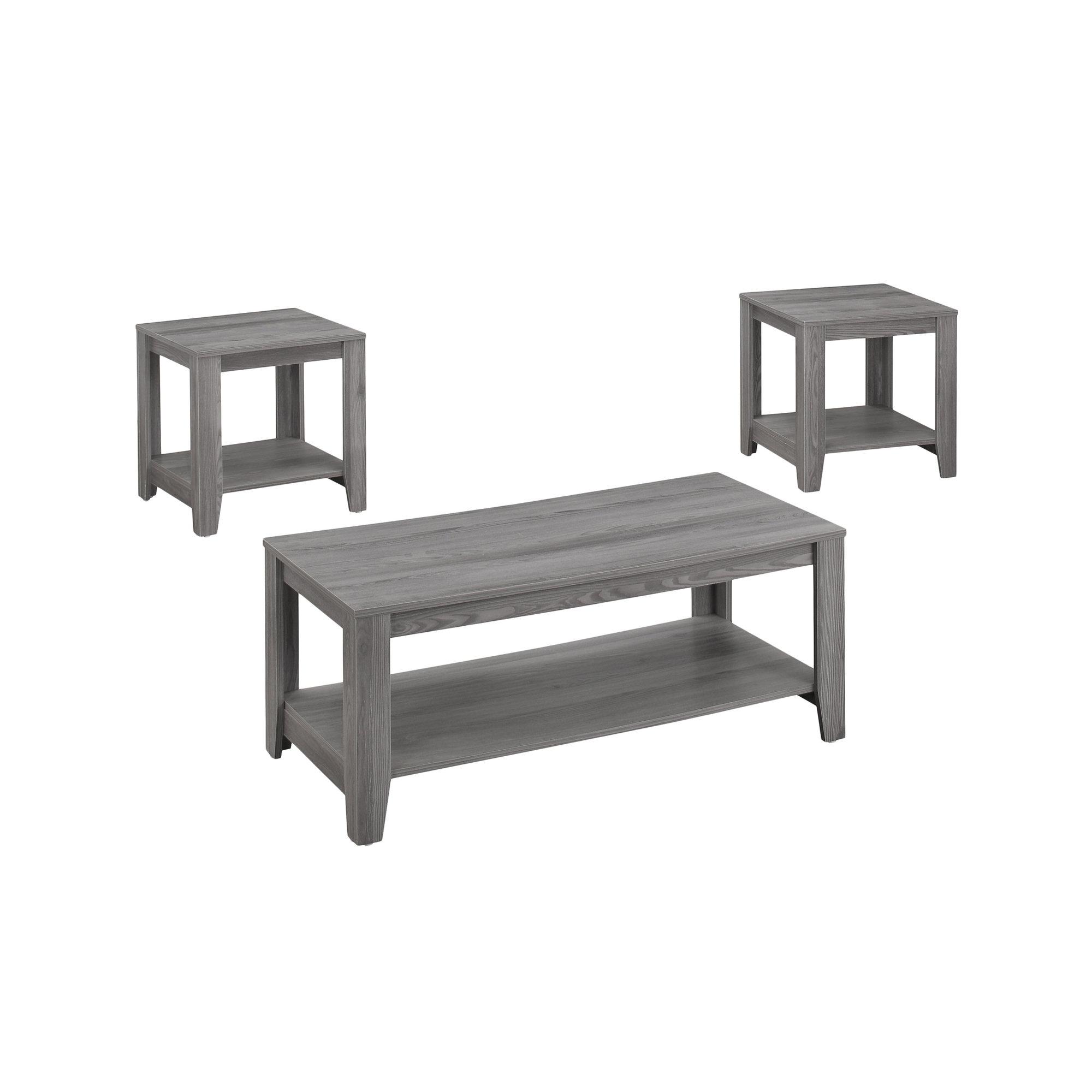 Grey Table Set  3Pcs Set