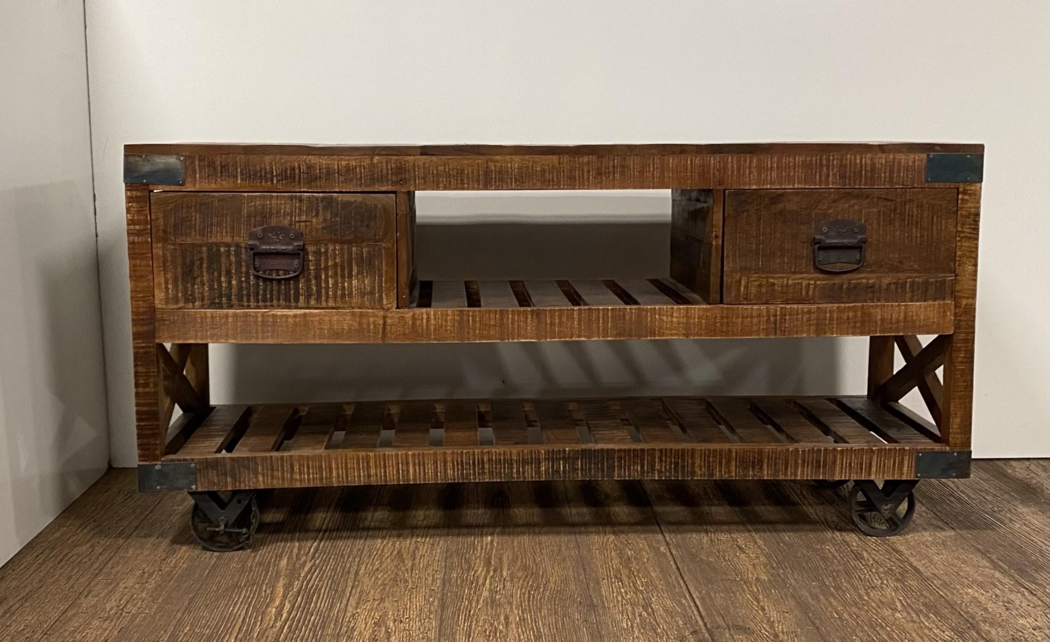Modern Farmhouse Console Buffet Cabinet