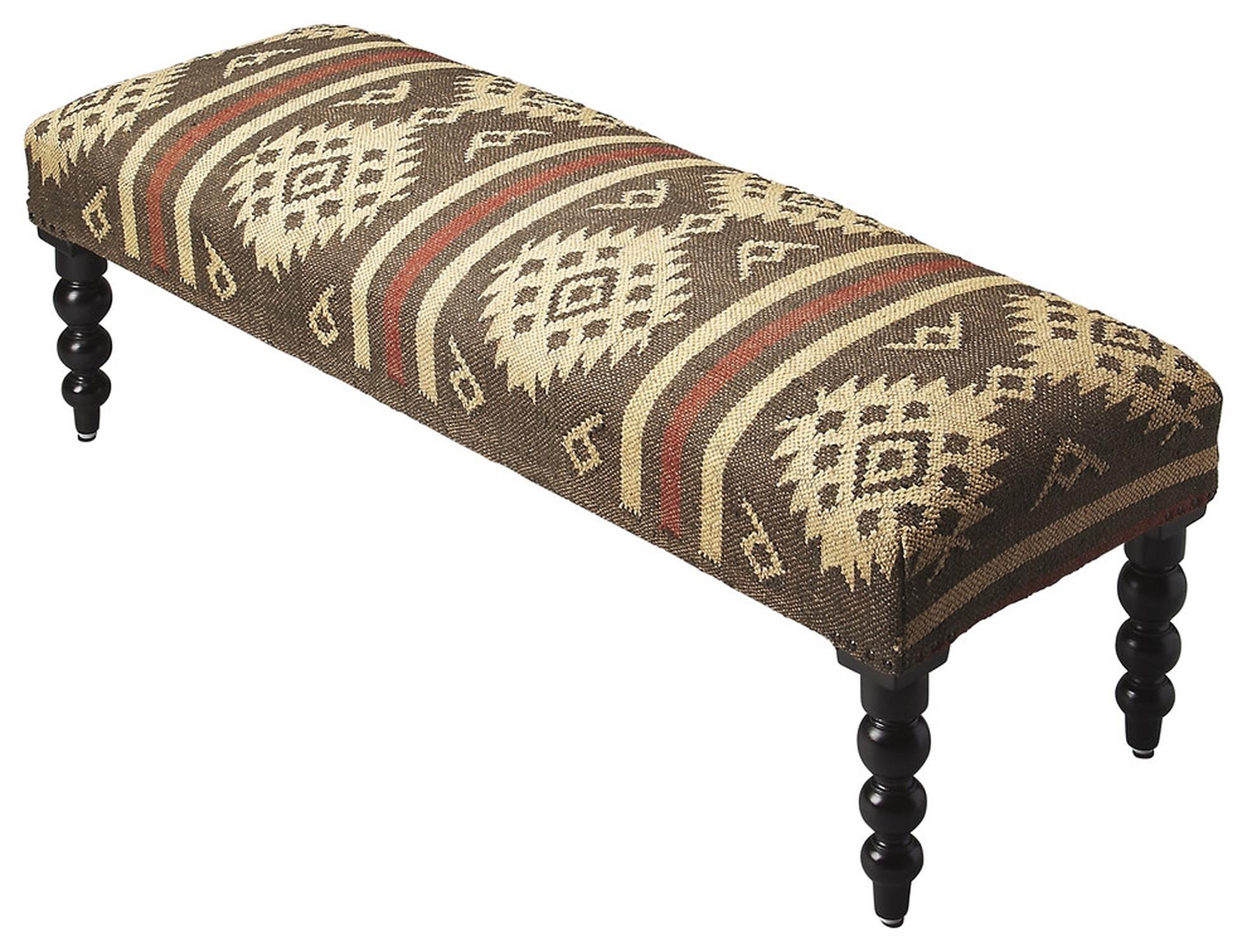 Jute Upholstered Bench