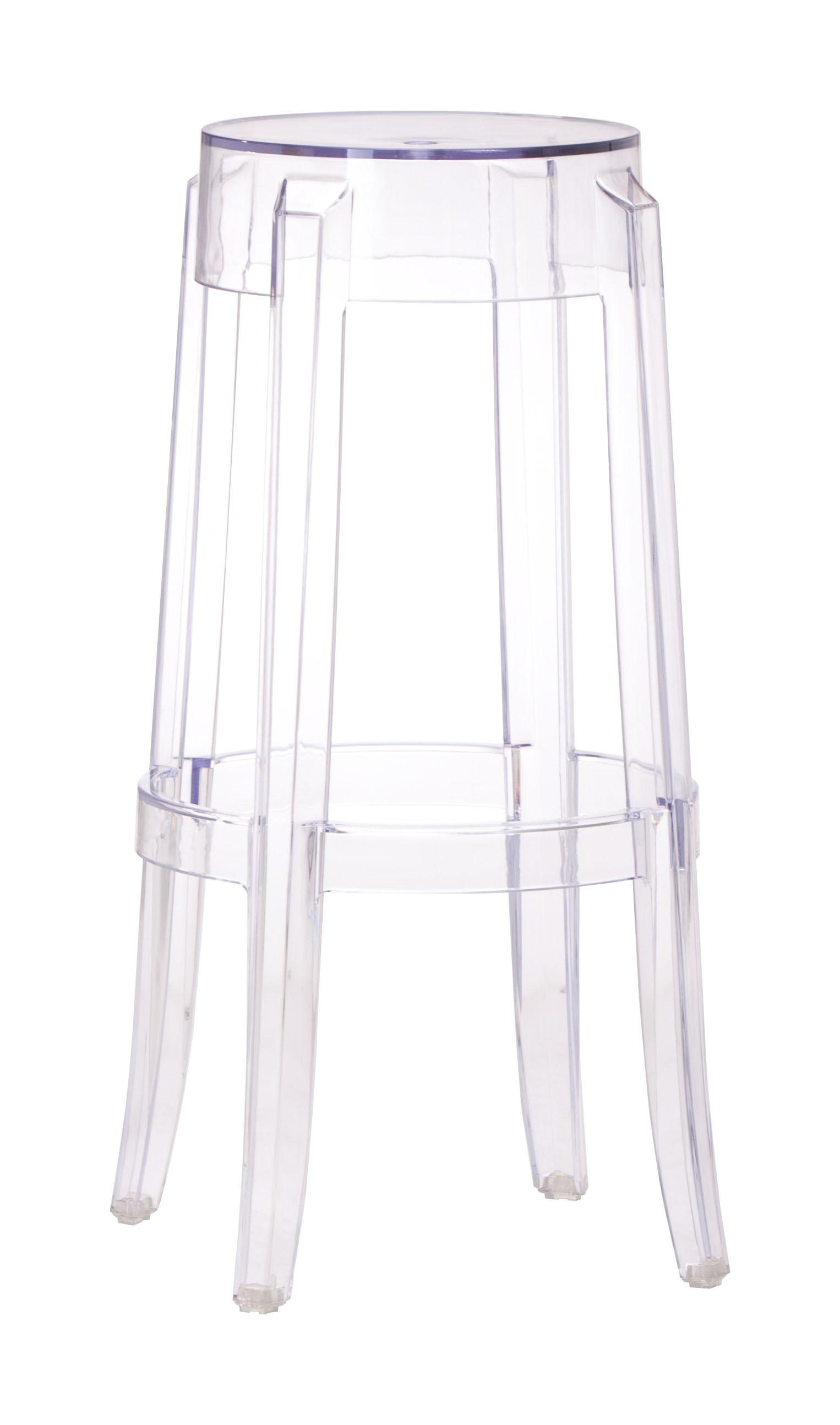 Modern Clear Plastic Barstool
