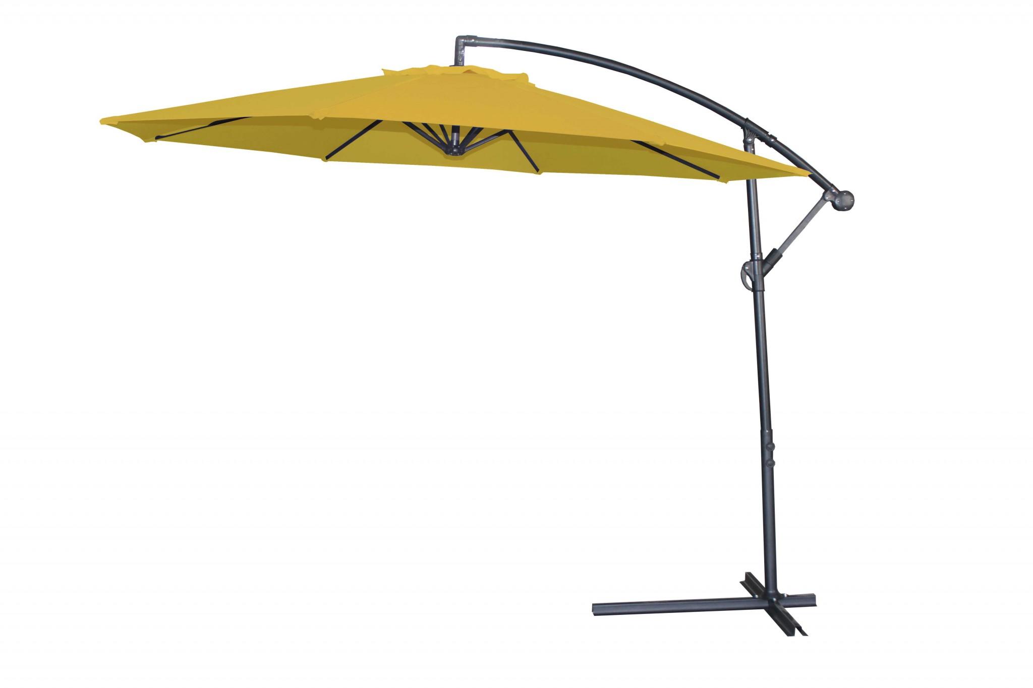 "118"" X 118"" X 97"" Yellow Steel Standing Umbrella"