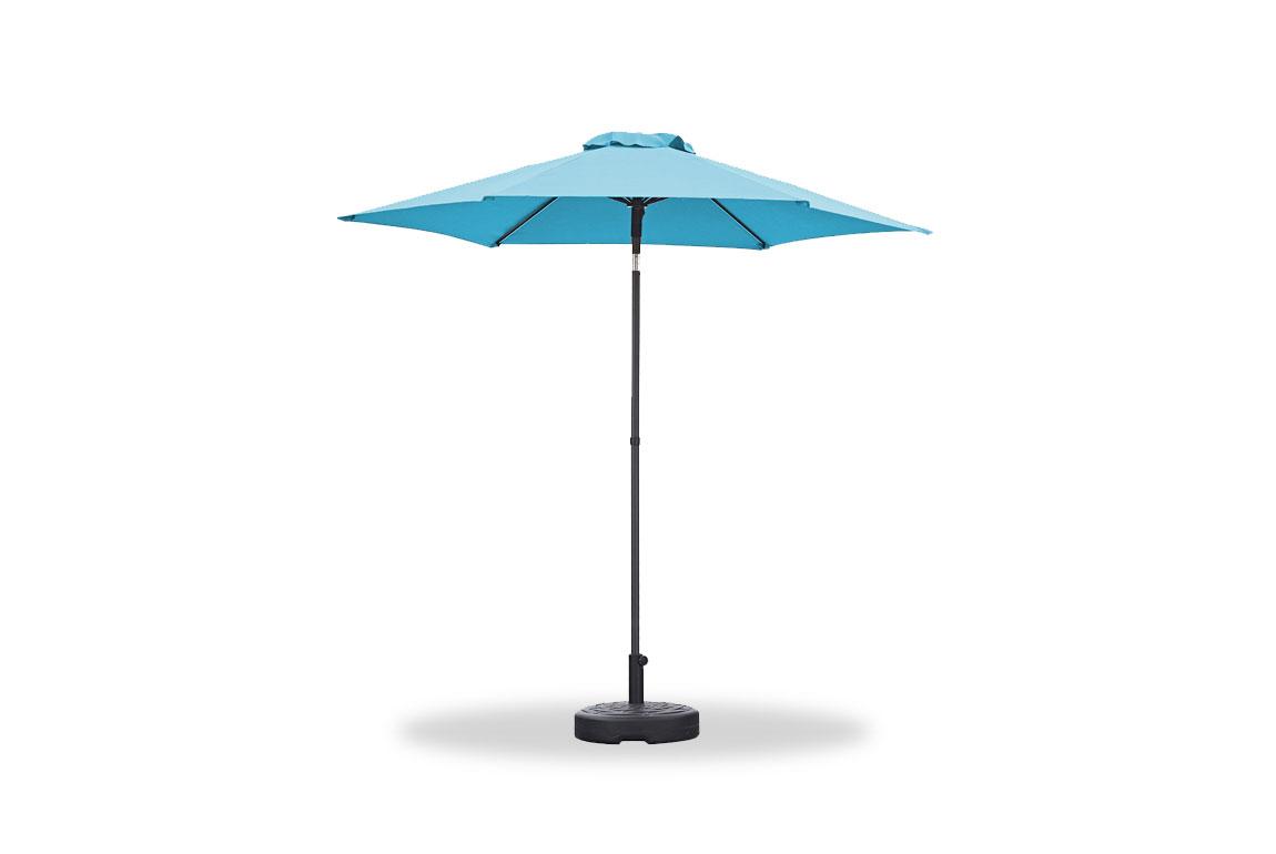 "87"" X 87"" X 99"" Blue iron Umbrella"