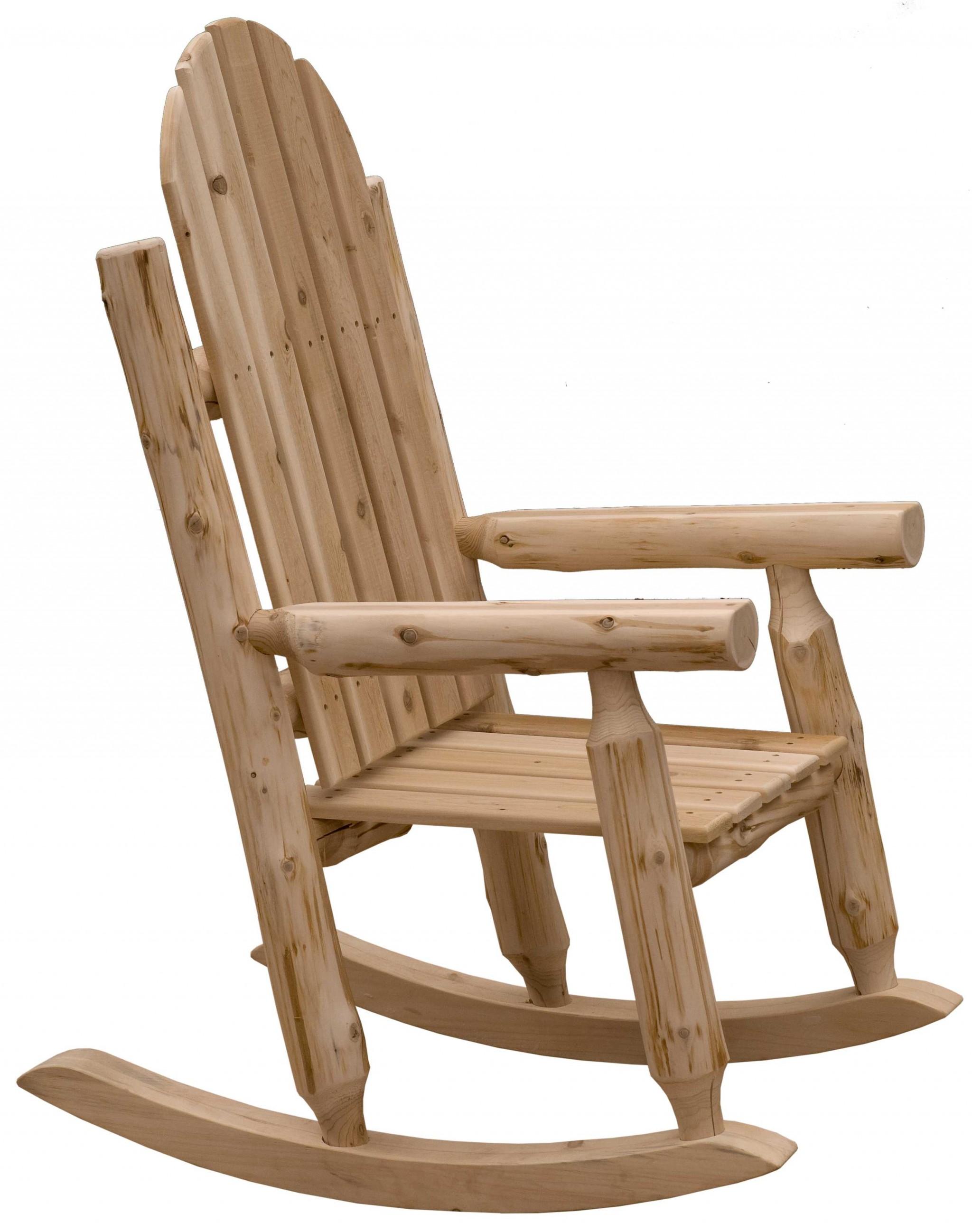 Rustic and Natural Cedar Adirondack Rocking Chair