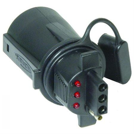 7 RV ROUND TO 4 FLAT W/LED INDICATOR LIGHTS ADAPTE