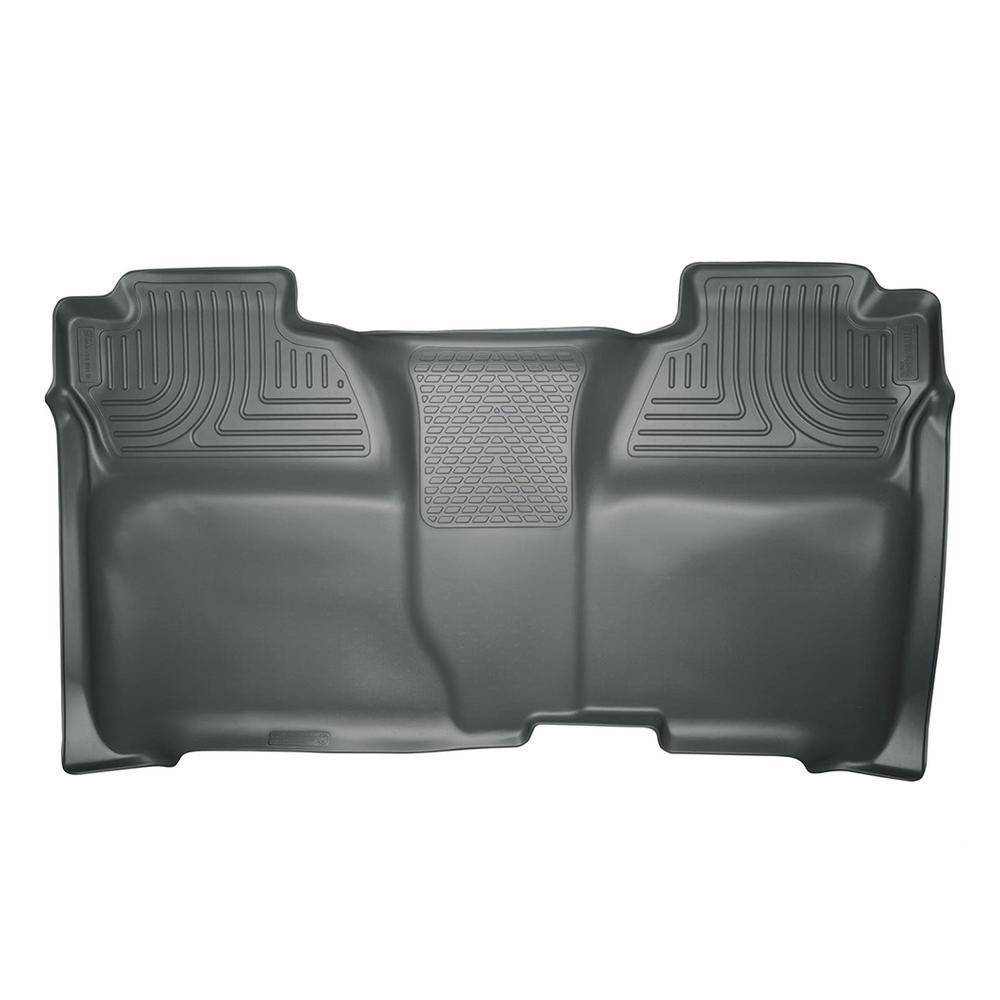 14-17 SILVERADO/SIERRA 1500/2500/3500 CREW CAB 1 PIECE 2ND SEAT FULL COVERAGE FLOOR LINER GREY