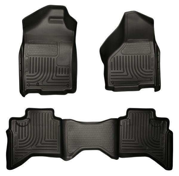 02-08 RAM 1500 QUAD/03-09 RAM 2500/3500 QUAD CAB WEATHERBEATERS FRONT & 2ND SEAT FLOOR LINERS BLACK