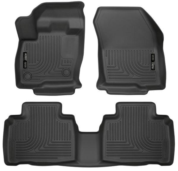 15-C EDGE FRONT & 2ND SEAT FLOOR LINERS WEATHERBEATER BLACK