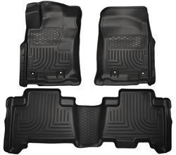 13-C 4RUNNER FRONT & 2ND SEAT FLOOR LINERS BLACK
