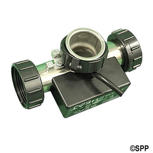 "Bath Heater, HydroQuip T-Style w/Pressure Switch, 1.5KW, 115V, 1-1/2"", NEMA Cord"