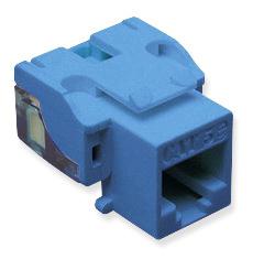 IC107E5CBL - 25PK Cat5 Jack - Blue EZ