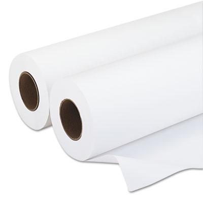"Amerigo Wide-Format Paper, 3"" Core, 20 lb, 24"" x 500 ft, Smooth White, 2/Pack"