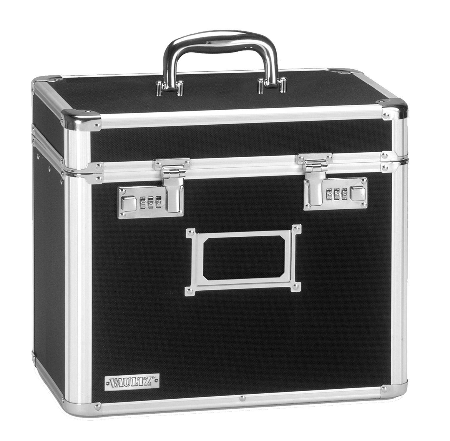 Locking File Tote Storage Box, Letter, 13-3/4 x 7-1/4 x 12-1/4, Black