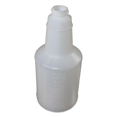 Plastic Bottles with Graduations, 24 oz, Clear, 24/Carton