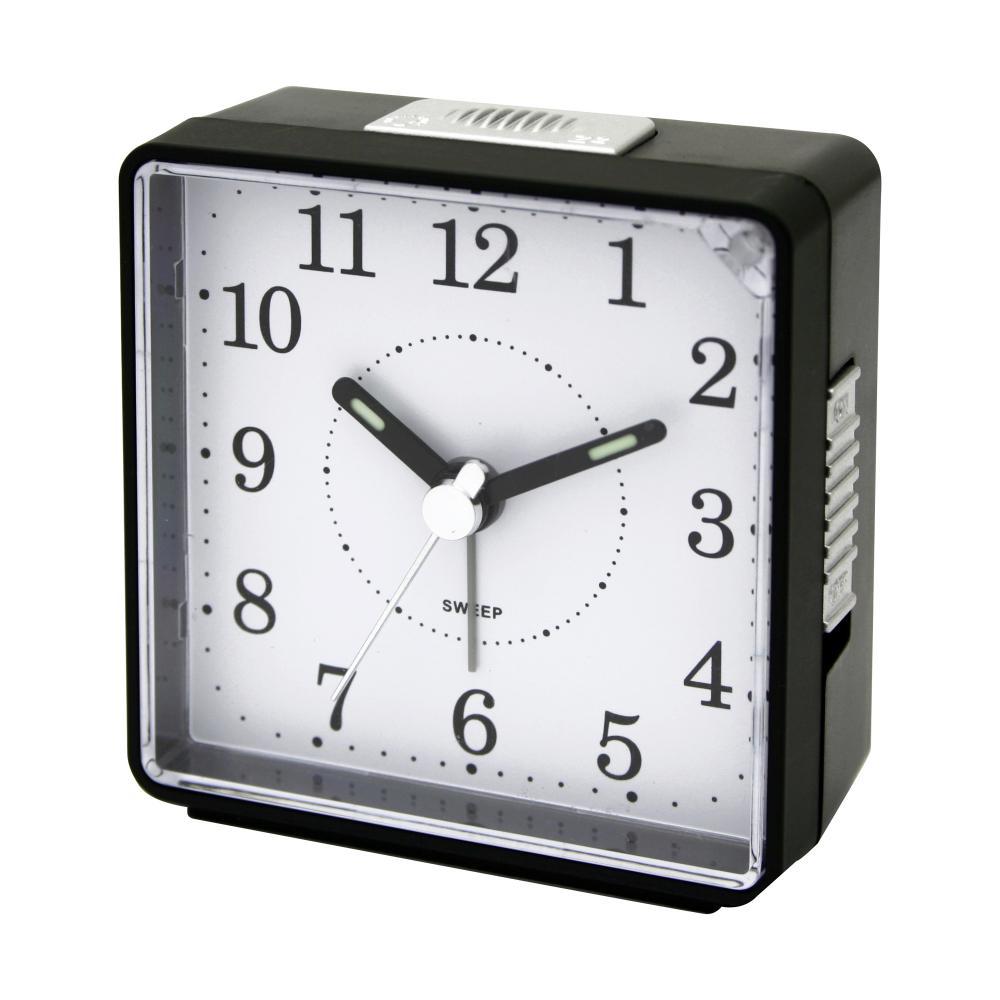 IMPECCA TRAVEL ALARM CLOCK, SWEEP -BLACK