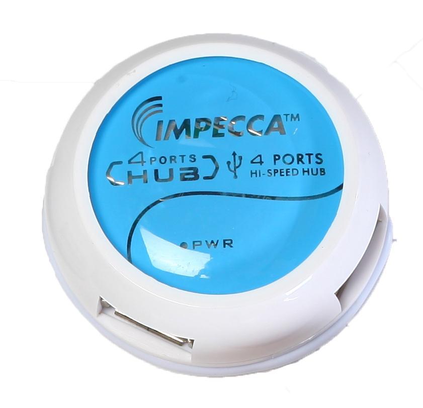 IMPECCA HB400 4-PORT USB HUB - BLUE