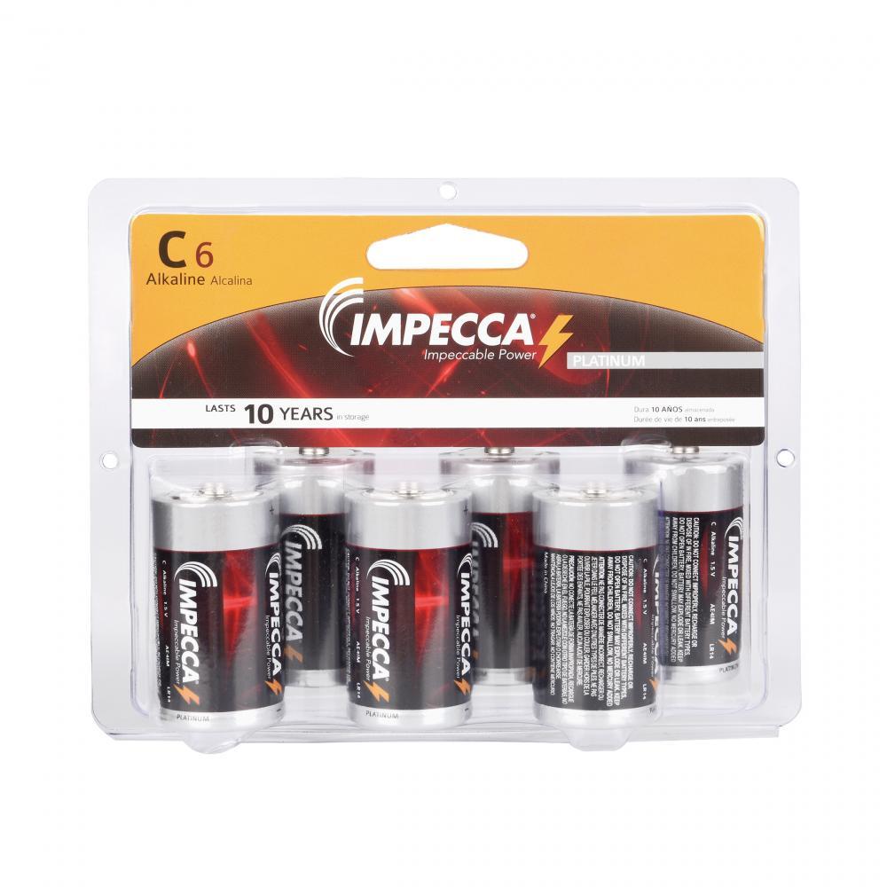 IMPECCA ALKALINE C 6-PACK (LR14-6B)