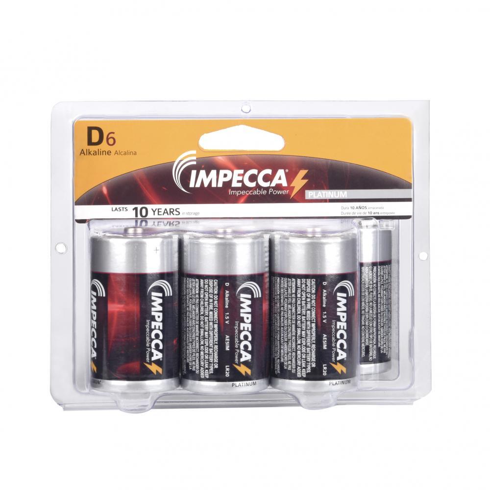 IMPECCA ALKALINE D 6-PACK (LR20-6B)