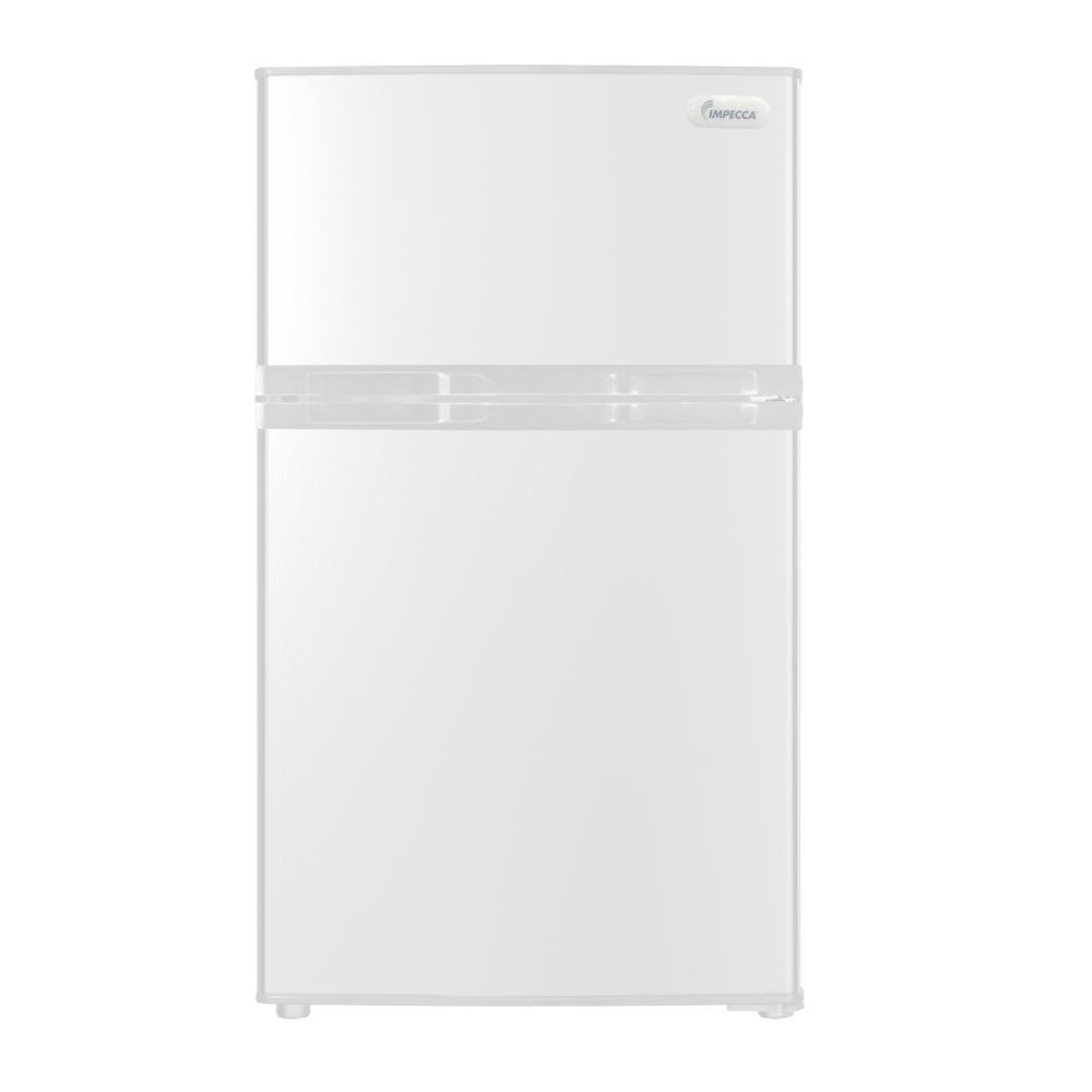 IMPECCA 3.1 CU.FT 2 DOOR FRIGE WHITE