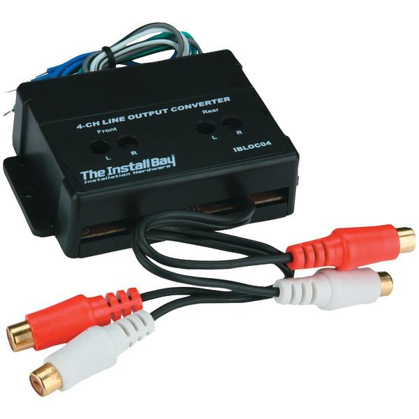 INSTALL BAY IBLOC04 4-Channel 60-Watt Adjustable Level Converter