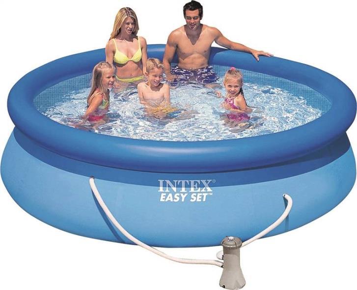 Easy Set 56921EH Deluxe Above Ground Pool, 1018 gal Capacity, 10 ft Dia 30 in H, Vinyl