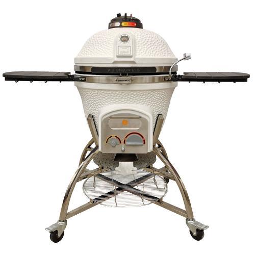 Vision XD702 Maxis Kamado grill, White.