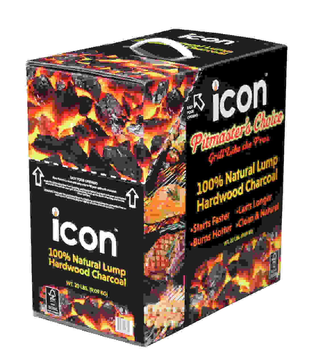 Icon Harwood lump charcoal.
