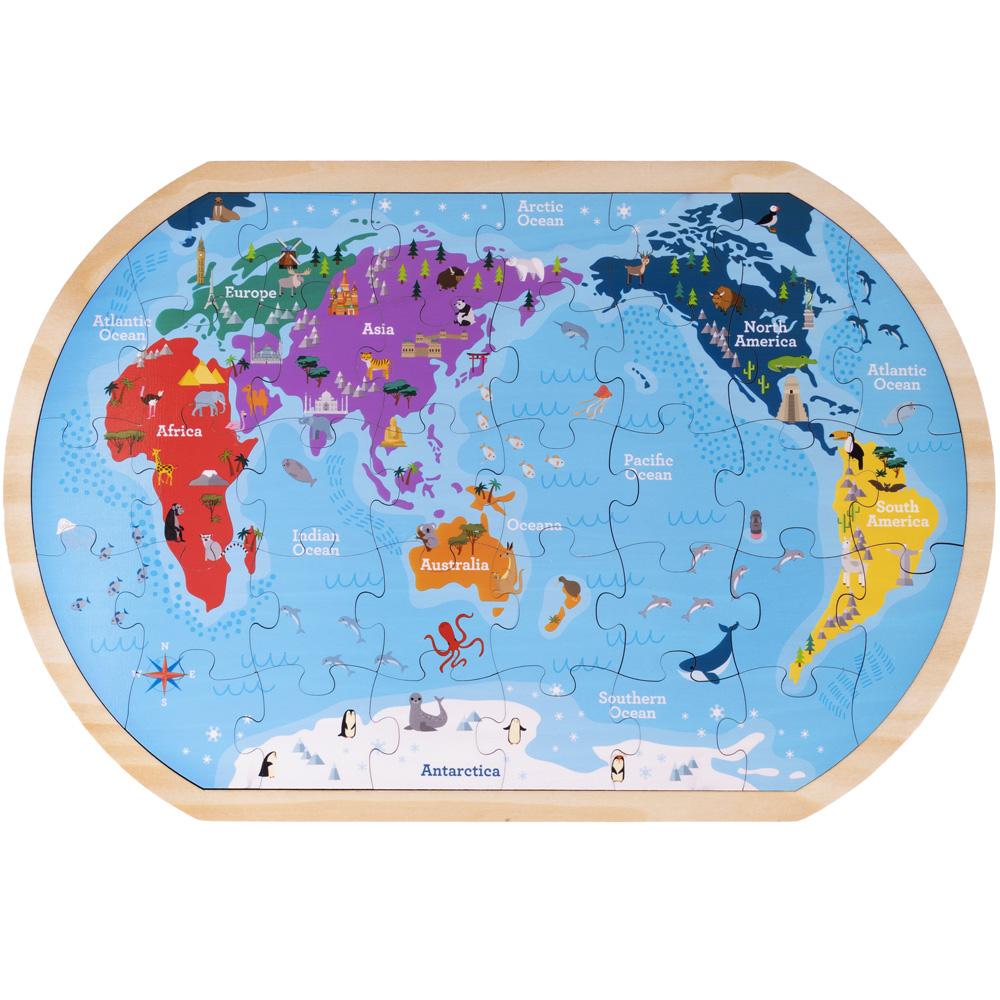Professor Poplar's Whole Wide World Puzzle Map