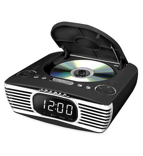 Bluetooth Bedside Stereo- CD- FM- Black