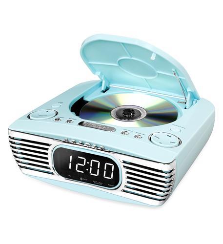 Bluetooth Bedside Stereo- CD- FM- Teal