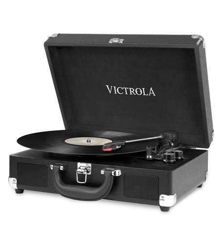 Victrola Portable Vintage Turntable- BK