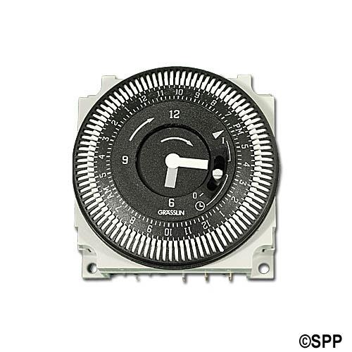 Time Clock, Grasslin, 24HR, 115V, 60Hz w/ Manual Override