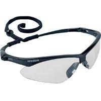 Nemesis V30 Safety Glass, Indoor/Outdoor Anti-Scratch Polycarbonate Lens, Black Nylon Frame