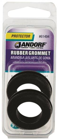 Jandorf 61494 Grommet, 3/4 in ID x 1-9/32 in OD x 5/16 in T, Rubber, Black