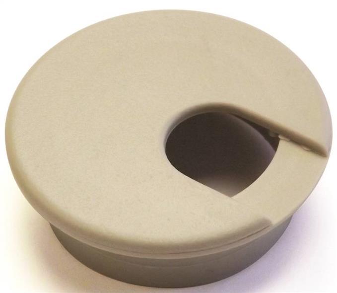 Jandorf 61602 Desk Grommet, Plastic, Almond